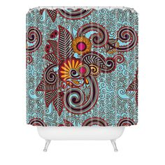 Juliana Curi India 3 Shower Curtain | DENY Designs Home Accessories
