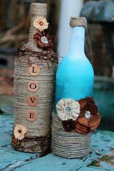 60+ Amazing DIY Wine Bottle Crafts #WineIdeas #decoratedwinebottles