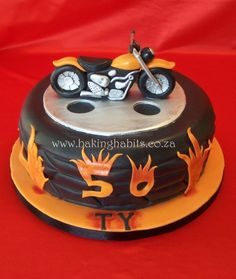 Motorbike cake for Ty, vamp limo driver