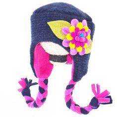 Daisy hat in navy #TuffKookooshka $36 Great Christmas gift!