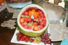Baby shower fruit baby