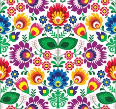 Seamless Traditional Floral Polish Pattern - Patterns Decorative