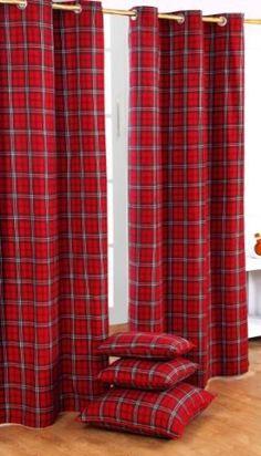 Edward Tartan Check Ready Made Curtain modern curtains