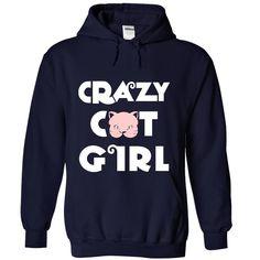 (Tshirt Coupon Today) Crazy Cat Girl at Sunday Tshirt Hoodies, Tee Shirts