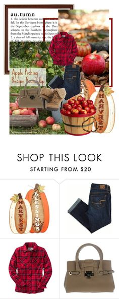 """""""plaid and Apple's"""" by priscilla12 ❤ liked on Polyvore featuring EASEL, American Eagle Outfitters, Jimmy Choo and Anne Michelle"""