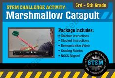 STEM Activity Challenge Marshmallow Catapult 3rd - 5th grade from Science_Demo_Guy on TeachersNotebook.com -  (9 pages)  - S.T.E.M. (Science, Technology, Engineering  Math) classroom project for Elementary  Homeschool groups.