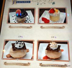Be Our Guest Restaurant Desserts