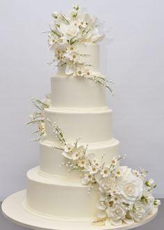 Indian Weddings Inspirations. White Wedding Cake. Repinned by #indianweddingsmag indianweddingsmag.com: