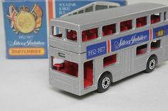 Matchbox/Lesney 17f; The Londoner Daimler Bus; Silver Jubilee 1977, K Type Box - http://www.matchbox-lesney.com/29116