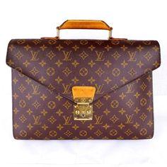 Auth Louis Vuitton Monogram Serviette Conseiller M53331 Business Bag Work Bag | eBay