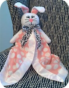 Create this adorable lovie blanket with machine embroidery designs and instructions from EmbroideryGarden.com