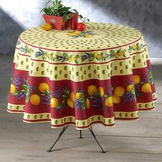 French-made tablecloth.  Product: TableclothConstruction Material: PolyesterColor: RedFea...