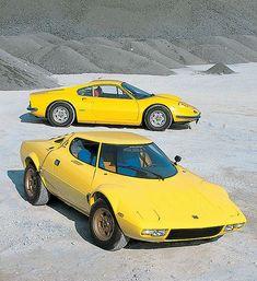 Stratos and Dino - they share the same Ferrari V6 engine.