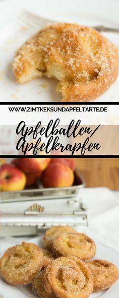 Lecker, fruchtig und perfekt für die närrische Zeit: mein Rezept für fluffige Apfelballen / Apfelkrapfen - ganz einfach zu Hause selber backen