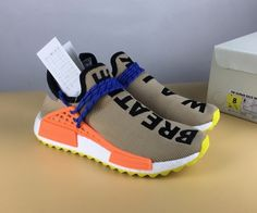 quality design e17c7 fb658 Official Pharrell x adidas NMD Hu Trail Pale Nude Core Black-Yellow -  Mysecretshoes Adidas