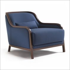 Porada charlotte armchair, fabric/leather by m. & l. dainelli