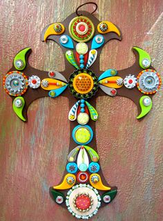 Wall Cross Embellished Jeweled Wall Art Unique OOAK by iluvPiC, $65.00
