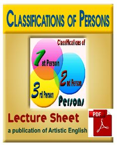 ''Download Bengali Lecture sheet on ''Classifications of Persons''  Download now the PDF Lecture sheet on ''Classifications of Persons'' in Bengali version completely free to improve your grammatical skill in English. It is designed and composed for the students of Bangladesh especially.