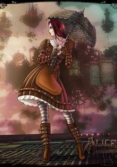 Steampunk Tendencies | Alice madness returns steampunk - Natalia Sorokina #Digitalart #Victorian #Corset