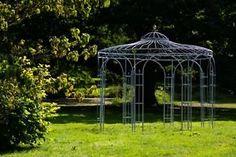 stabiler pavillon aus roheisen rost 290cm. Black Bedroom Furniture Sets. Home Design Ideas