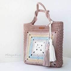 Crochet Patterns Bag Image interface for crochet bag mother heat Crotchet Bags, Bag Crochet, Crochet Shell Stitch, Crochet Handbags, Crochet Purses, Knitted Bags, Love Crochet, Filet Crochet, Crochet Clothes
