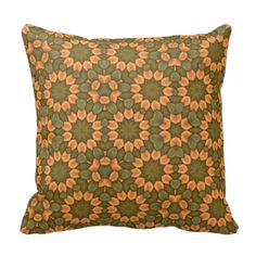 A nice green & orange flower pattern with a unique and trendy looks. The repeating pattern is decorative and stylish. You can also Customized it to get a more personally looks.