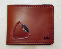13e8862b4f Personalized Handmade Men s Genuine Leather Guitar Pick  Billfold Wallet    With or Without Name or Initials