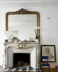 marble fireplace mantels 1920's nyc - Google Search | Fireplace ...