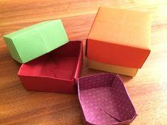 Origami: Schächtelchen aus Papier