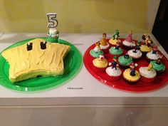 Cakes and Cupcakes for Super Mario Birthday Party