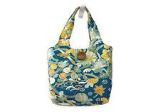 Aqua Blue Tote Bag - Vintage Japanese Silk Kimono Bag - Japanese Kimono Bag by TheEasternTouch on Etsy
