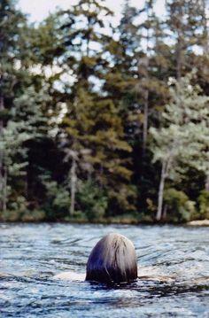 A lake swim via HER NEW TRIBE