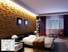 Natural Bamboo 3D Wall panel Decorative Wall Ceiling Tiles Cladding Wallpaper, Name- 'Olina',