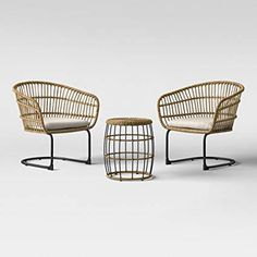 Southport Wicker Motion Patio Chat Set - Project : Target Could use these inside or outside or both! Way cheaper than just the normal inside ones Wood Patio Chairs, Patio Furniture Sets, Furniture Layout, Outdoor Chairs, Outdoor Furniture, Outdoor Decor, Metal Furniture, Cheap Furniture, Discount Furniture
