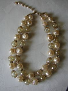 Vintage Lisner 2 Strand Necklace with Smokey di OnlyForMeJewelry, $20.00