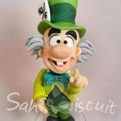 Sah Biscuit Polymer Clay Disney, Polymer Clay Figures, Fondant Figures, Polymer Clay Projects, Clay Crafts, Diy And Crafts, Sah Biscuit, Alice In Wonderland Cakes, Character