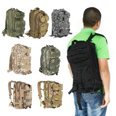Only £13.86, black 30L Outdoor Sport Military Tactical Backpack Molle Rucksacks - Tomtop.com