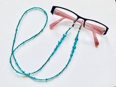 This beautiful Eye glasses chain is handmade with seed beads and Blue Zircon Swarovski Crystals - length Blue Zircon is the birthstone for December Gift wrapped in an organza bag this item makes a stunning gift and helpful accessory for Mother's Day Gifts For Mum, Mother Day Gifts, Wine Glass Charms, Blue Zircon, Birthday Gifts For Her, Organza Bags, Eye Glasses, Birthstones, Seed Beads