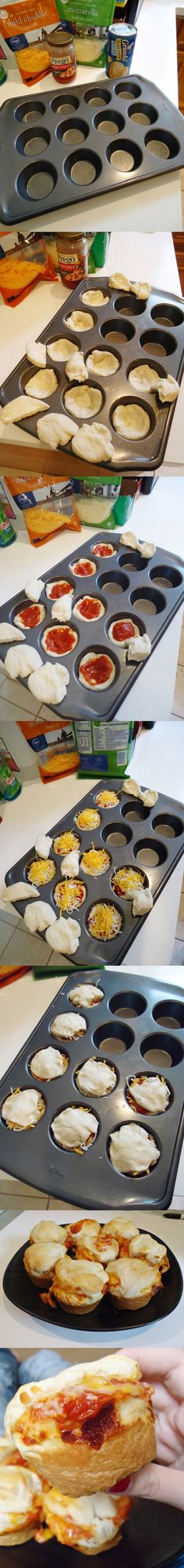 Pizza cupcakes; leuk voor de kids! Door Karin