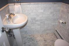 marble, subway tile, basketweave