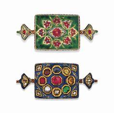 A nine-gem (navratna) armlet (bazuband) India, 19th century #christiesjewels
