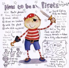 Helen Doodle - How to be a Pirate - art prints and posters