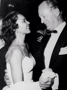 Dorothy Dandridge and costar Curd Jürgens photographed dancing together at party hosted by Elizabeth Taylor and her husband Mike Todd during the 1957 Cannes Film Festival.