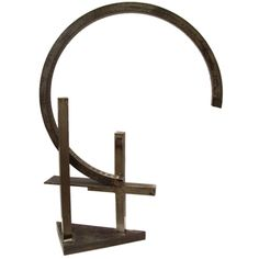 Guy Dill (American 1946-) Abstract Modern Welded Steel Sculpture | From a unique collection of antique and modern sculptures at http://www.1stdibs.com/furniture/more-furniture-collectibles/sculptures/