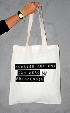 Jutebeutel Prinzessin // tote bag by WAMASA via dawanda.com