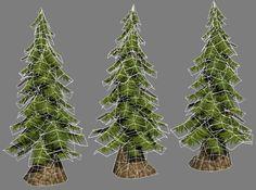 Hand-painted pine tree