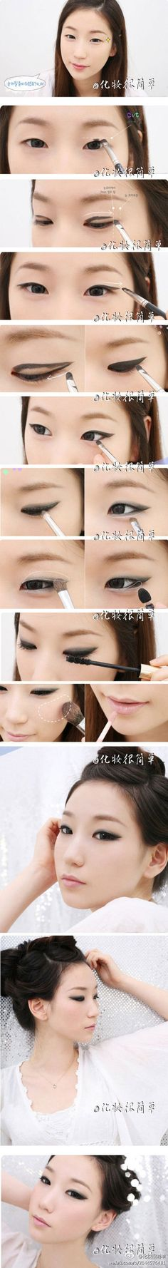 a little modification for eyelid shape and this is a simple smoky look that anybody could pull off