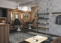 Winchester Barber Shop by «Grafit Architects» bureau #barbershop #design…