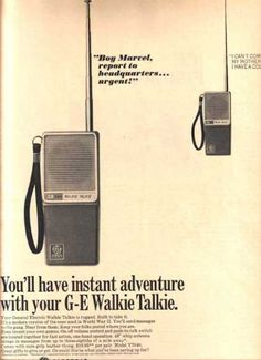 got walkie talkies for my kids. my dad had a cb radio and walkie talkies when we traveled by car cross country as a fammily in two cars. wow that was fun
