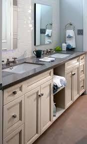 caesarstone raven, white subway tile, lighter cabinets